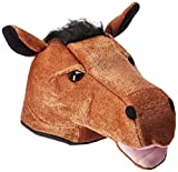 Plush Horse Head Hat Party Accessory (1 count) (1/Pkg)
