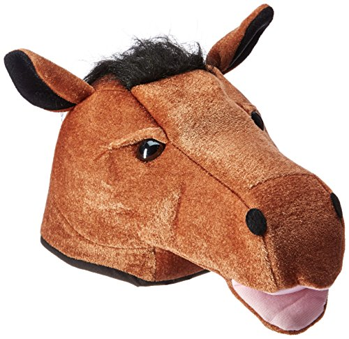 Plush Horse Head Hat Party Accessory (1 count) (1/Pkg) (Horse Head Hat)