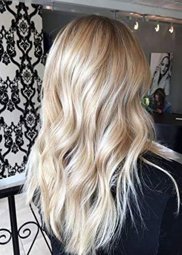 Vesuny U Shape Wig Human Hair Brown Balayage Blonde Upart Wigs Human Hair Straight Hair With Clips