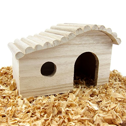 Alfie Pet by Petoga Couture – Piko Wooden Hideout Hut for Small Animals like Dwarf Hamster and Mouse