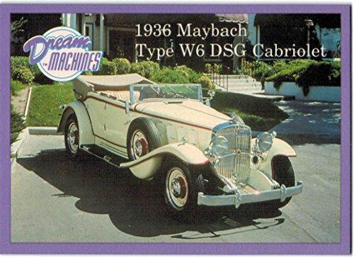 1991-92 Dream Machines #66 1936 Maybach Type W6 DSG Cabriolet - - Maybach Shop
