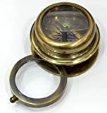 Best Stanley Magnifying Glasses - Brass compass with Hand Magnifier Review