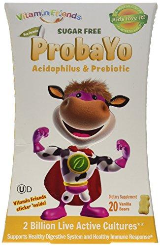 Vitamin Friends - ProbaYo Sugar Free Diet Supplement, Healthy Digestive & Immune Systems (Vanilla, 20 Count)
