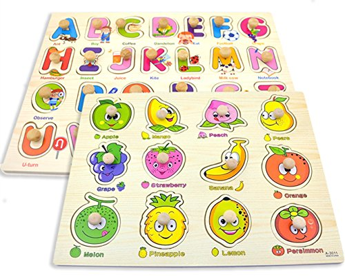 kids puzzles with knobs - 7