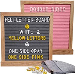 Pink and Gray, Double Sided Letter Board...