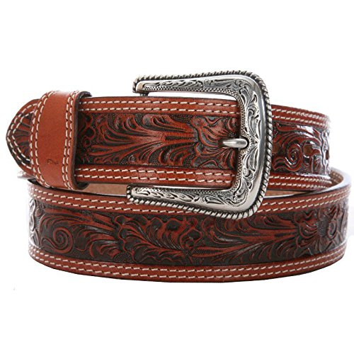 Nocona Belt Co. Men's Tan Mexican Floral Embose, 44