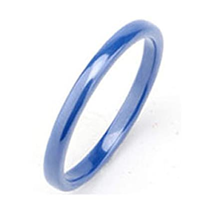 JEWH Hot 2mm Light Pink Black White Blue Purple Beautiful Smooth Ceramic Ring for Women -