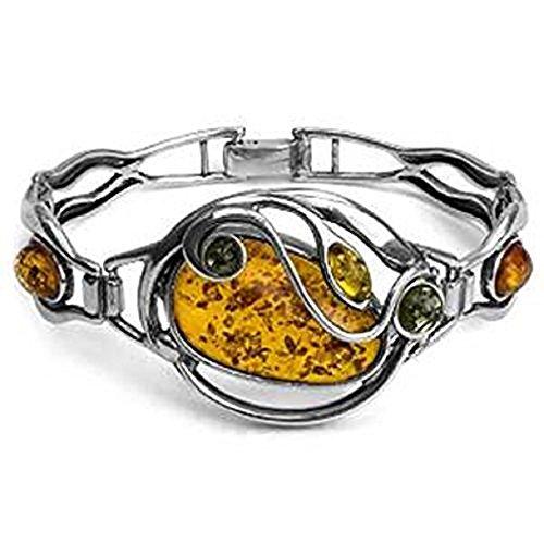 - Ian and Valeri Co. Multicolor Amber Sterling Silver Fashion Bangle Bracelet 19cm