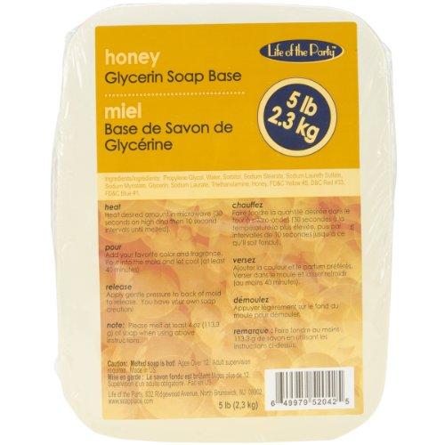 Glycerin Honey (Life of the Party Honey Glycerin Soap Base, 5 lb, 52042)