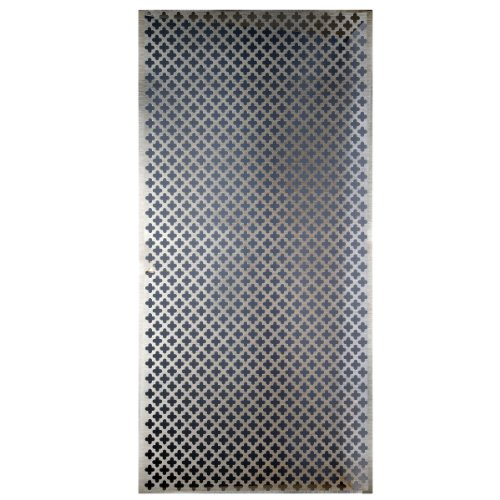 1 Space Perforated Vent Panel - M-D Hobby & Craft M-D Building Products 57324 Decorative Cloverleaf Aluminum Sheet, Silver