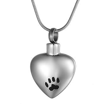 Zcbrisk dog paw cat paw love heart pet cremation necklace memorial zcbrisk dog paw cat paw love heart pet cremation necklace memorial keepsake ashes urn pendant jewelry aloadofball Choice Image