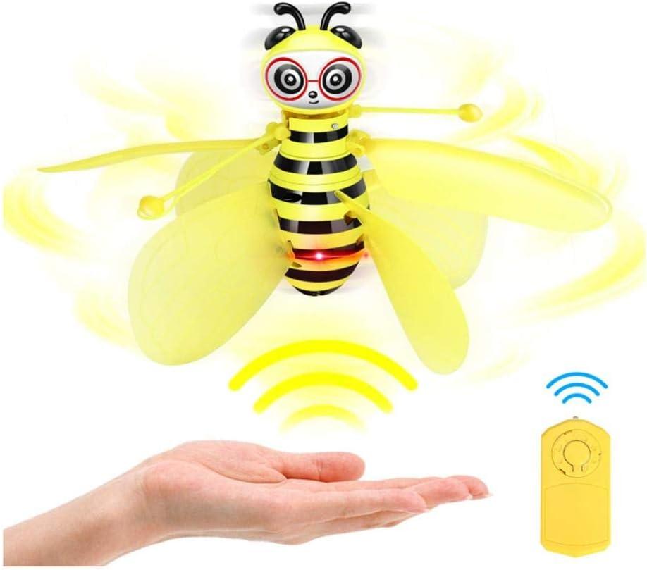 Sue-Supply Little Bee Drone Gesture-Sensing Aircraft,Sospeso Bambini Giocattoli a induzione Controllato A Infrarossi Telecomando Volante Giocattoli Drones Con Luce LED Per Bambini Giocattoli Piacevoli