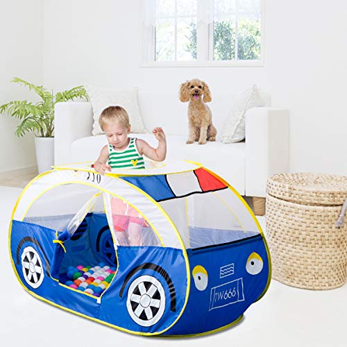 Artiron Police Car Play Tent, Indoor Outdoor Kids Vehicle Castle Pop up Tent Playhouse as Great Birthday Gift Toys 1-8 Years Old Toddlers Baby Boys Girls (Police Car) by Artiron (Image #2)