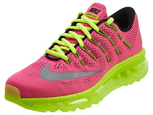 Nike Air Max 2016 (Gs), Zapatillas de Running para Mujer Rosa (Hyper Pink / Reflect Silver-Volt-Black)