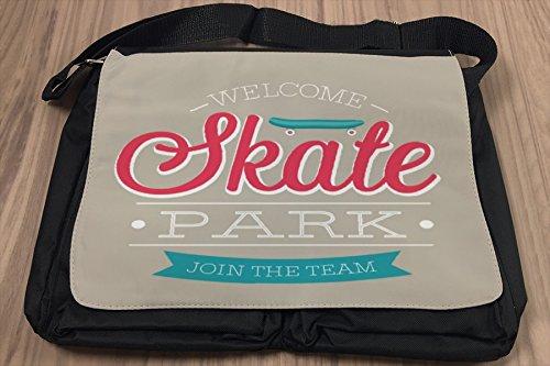 Borsa Tracolla Divertimento Skate Park Stampato