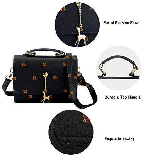 Crossbody-Bag-for-Women-Girls-PU-Leather-Classic-Shoulder-Phone-Purse-Fawn-Pendant