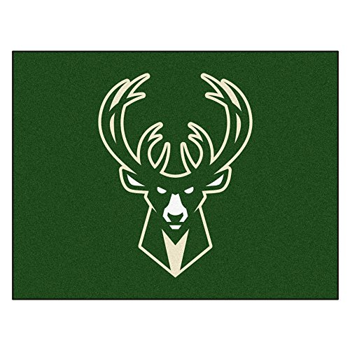 Fanmats 19453 33.75''x42.5'' Team Color NBA - Milwaukee Bucks All-Star Mat by Fanmats