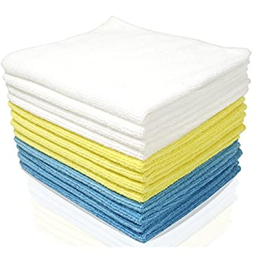 Royal Microfiber Cleaning Cloth Set - 24 Pack Micro Fiber Towels - 12 x 16 inches - Highly Absorbent, Ultra Soft and Reusable - Lint and Streak Free, Scratch Resistant - 100% Satisfaction