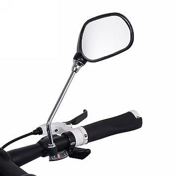 1 Packung 15cm Edelstahl Verbinden Stange Bike R/ückspiegel 7,5x11cm breit flexibel Reflektierende Spiegel passend f/ür 22.2mm Lenker 360-Grad drehbar Radfahren Fahrrad Motorrad R/ückspiegel
