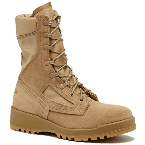Belleville 390DES Men's 8-in Combat Tactical Boot Tan 9.5 M US - Sole Combat Boots