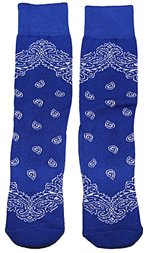 Casual Fashion Bandana Socks By Ti Hosiery Royal Blue