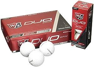 Wilson Staff Duo Spin Golf Balls (12-Pack), White by Wilson - Golf