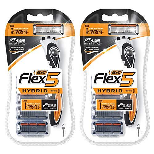 BIC Flex 5 Hybrid Razor, 4 Count, Pack of 2