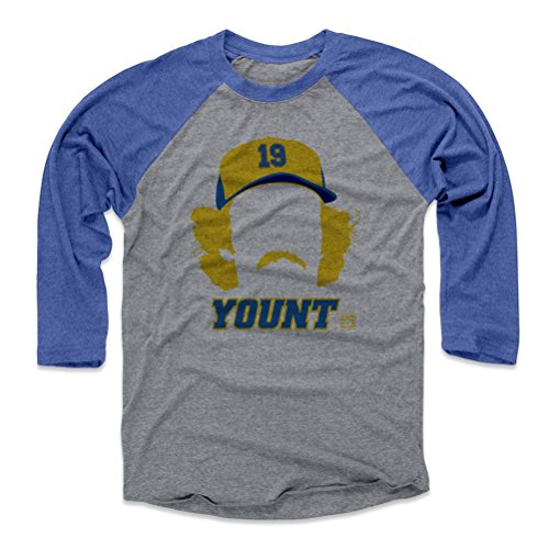 500 LEVEL Robin Yount Baseball Tee – Unisex Adult – Vintage Milwaukee Baseball Raglan Shirt – Robin Yount Silhouette – DiZiSports Store
