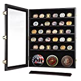 Military Shadow Box Pins Badge Coin Display Cabinet Rack Wood