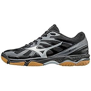 Mizuno Women's Wave Hurricane 3 Volleyball Shoes - Black & Silver (Women's Size 5)