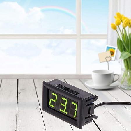 50 ~ 110 ° C Thermometer Auto Temperatur Messgerät LED DC 1m Pool Terrarium