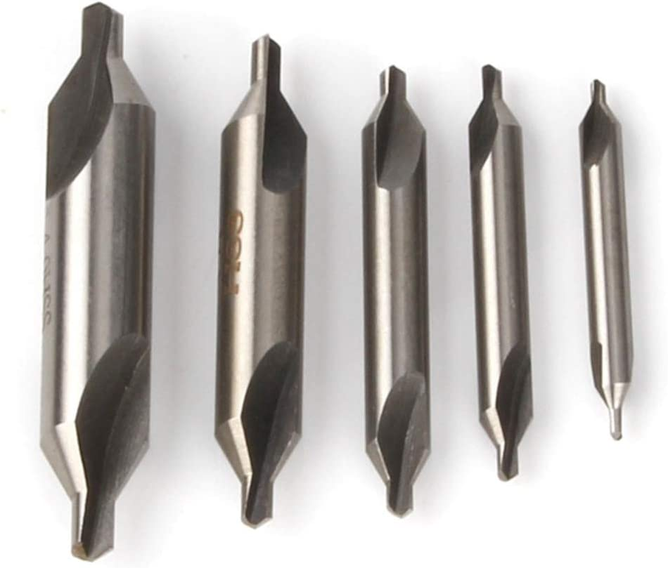 Atoplee 5pcs Premium HSS6542 Center Drill Combined Drill /& Countersink Lathe Mill Tool Set