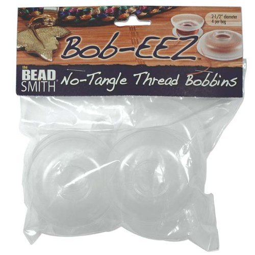 No Tangle Flexible Plastic Thread Bobbins For Kumihimo Or Macrame 2 1/2 Inch (8 Pack)