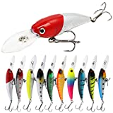 YONGZHI Fishing Lures Shallow Deep Diving Swimbait Crankbait Fishing Wobble Multi Jointed Hard Baits for Bass Trout Freshwater and Saltwater