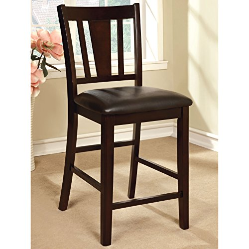 Modern Furniture of America Bension Espresso Counter Height Chairs (Set of 2) Kitchen Furniture Brown (Cheapest Dining Sets Furniture)