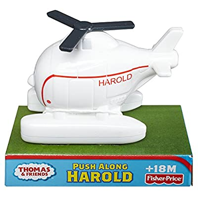 Thomas & Friends Fisher-Price My First, Push Along Harold Train: Toys & Games