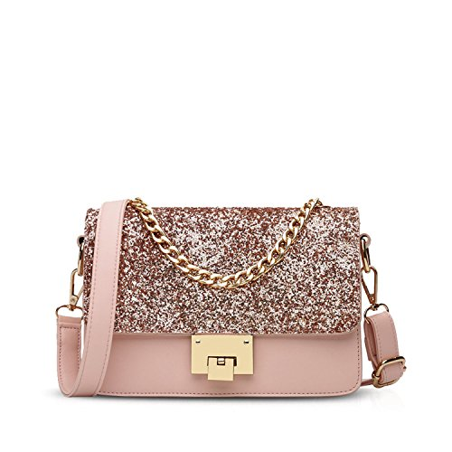 Chain Bag Handbag Bag Crossbody Pink PU Waterproof Fashion Shoulder amp;Doris Women Leather Small Nicole Pink 8tYAqIx