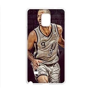 DAZHAHUI SAN ANTONIO SPURS Basketball NBA White Phone Case for Samsung Galaxy Note4