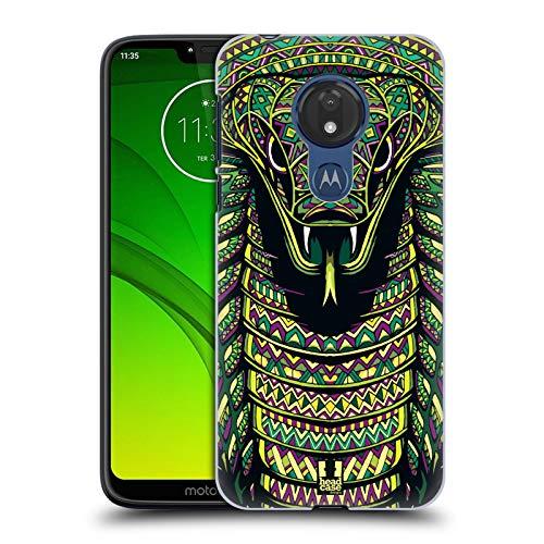 Head Case Designs Snake Aztec Animal Faces Series 6 Hard Back Case Compatible for Motorola Moto G7 Power