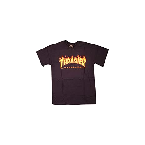 bfd66b1788ad Image Unavailable. Image not available for. Color: Thrasher Magazine Flame  Navy Medium T-Shirt