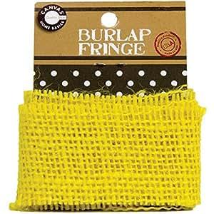 Canvas Corp Burlap Fringe, 1-Yard, Yellow