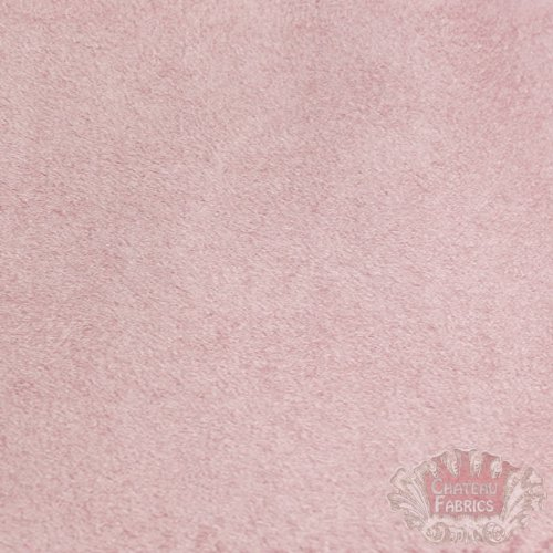 Suede Microsuede Upholstery Fabric-Pink- 58