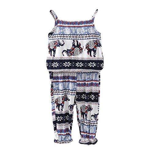 (Hatoys 2pcs Floral Clothes Set,Toddler Infant Baby Girls Tops+Pants Outfits Set (5T,)