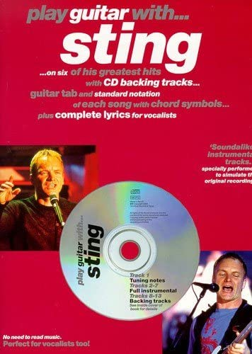 Play Guitar With... Sting. Partituras, CD para Acorde de Guitarra ...