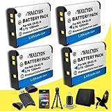 Four Halcyon 1200 mAH Lithium Ion Replacement Nikon EN-EL19 Battery + Memory Card Wallet + SDHC Card USB Reader + Deluxe Starter Kit for Nikon CoolPix S4100 14 MP Digital Camera and Nikon EN-EL19