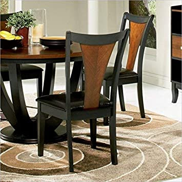 Boyer Upholstered Seat Side Chairs Amber and Black Set of 2
