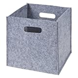 Sammy & Lou Felt Storage Cube, Gray