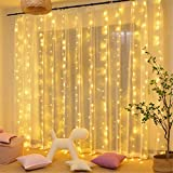 MAGGIFT 304 LED Curtain String Lights, 9.8 x 9.8