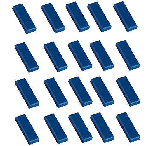 MAUL 1 kg Maulpro Rectangular Magnet for Whiteboards - Blue (Pack of 20) by Maul