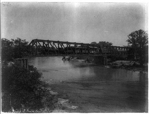 Photo: Bridge at Santa Rosa,Mexico,Train on bridge,1884-1885,by William Henry - Shopping In Santa Rosa